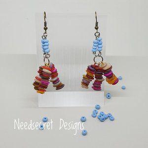 Handmade Color Shell Fashion Hippie Earrings